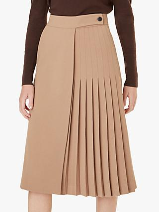 Hobbs Piper Pleated Skirt, Camel