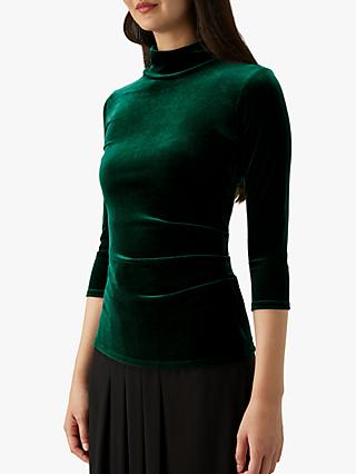 Pure Collection Velour High Neck Top