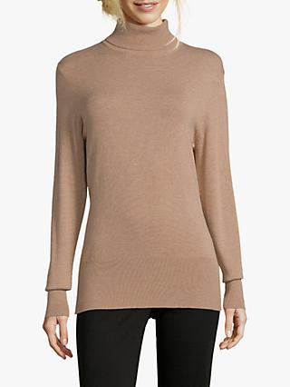Betty Barclay Polo Neck Jumper, Camel Melange