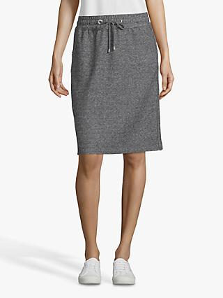 Betty Barclay Sporty Tweed Effect Jersey Skirt, Black/Grey
