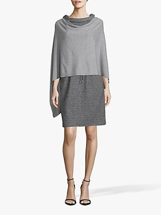 Betty Barclay Fine Knit Embellished Poncho, Grey Melange