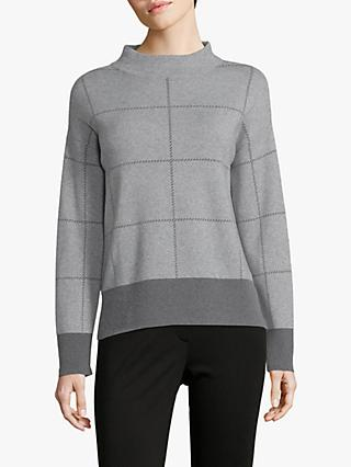 Betty Barclay Check Knit Jumper, Grey