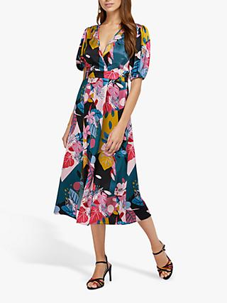 Monsoon Rhi Rhi Print Tea Dress, Teal