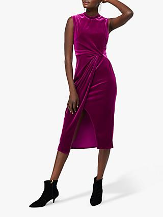 Monsoon Shelby Velvet Twist Dress