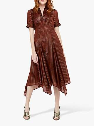 Monsoon Elodie Hanky Hem Midi Dress