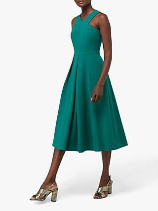 Monsoon Penelope Midi Occasion Dress, Green