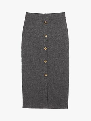 Oasis Rib Knit Pencil Skirt