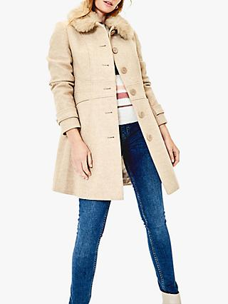Oasis Faux Fur Collar Coat