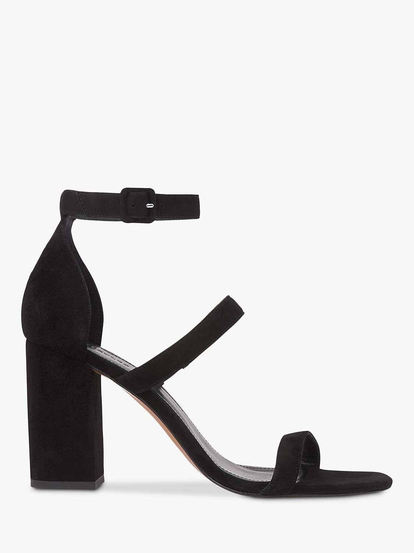 Whistles Hayes Strappy Block Heel Sandals, Black by John Lewis