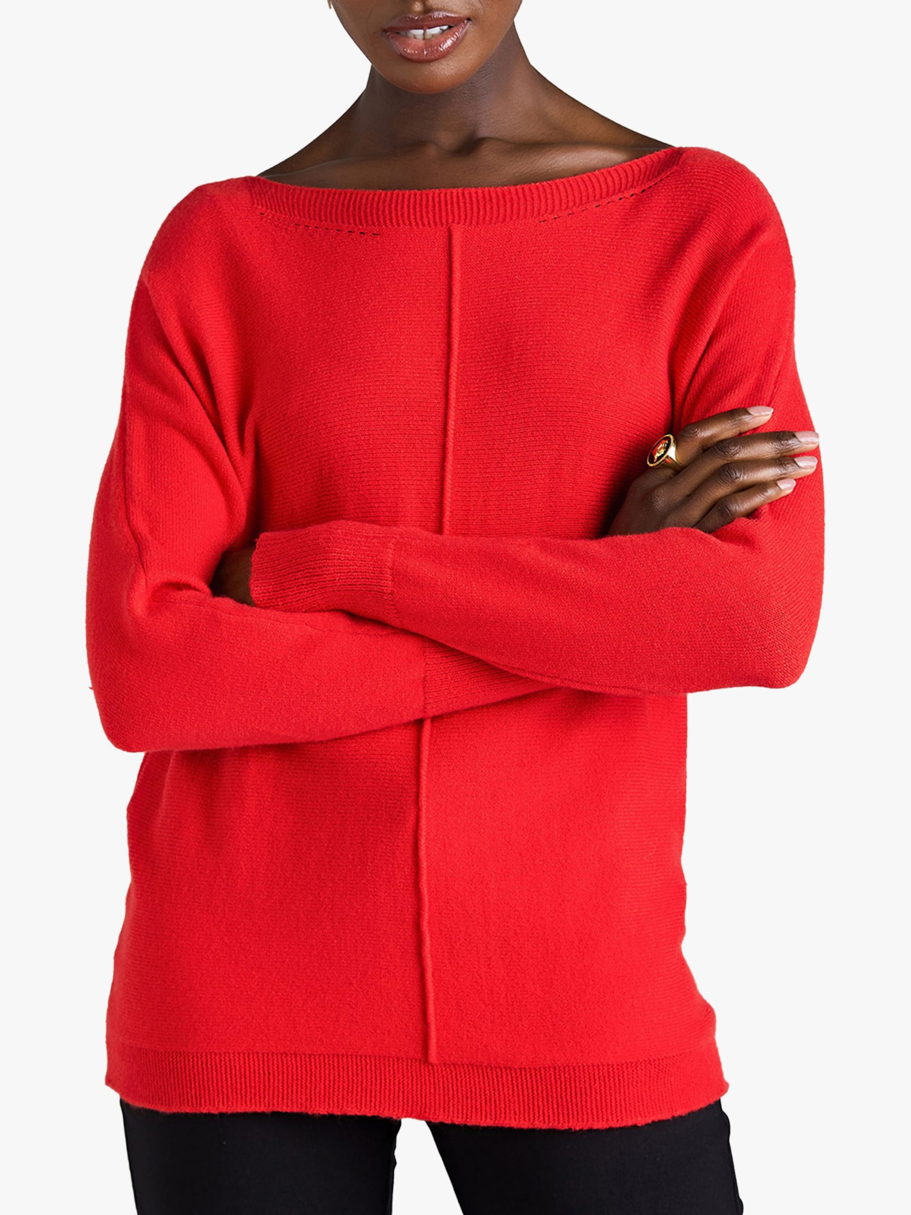 Yumi Yumi Relaxed Knit Jumper, Red