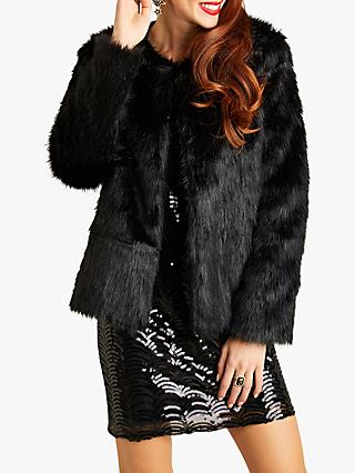 Yumi Fur Jacket, Black
