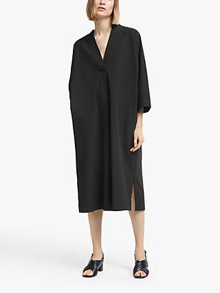 Kin Textured Grown On Sleeve Dress, Black