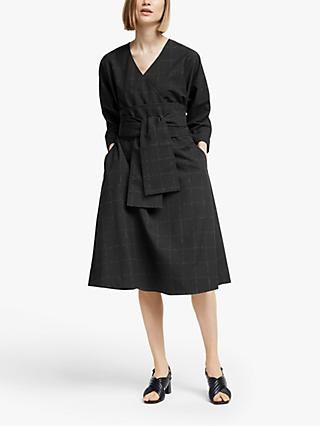 Kin Belted Wrap Dress, Black