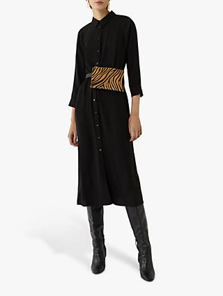 Warehouse Midi Tie Waist Dress