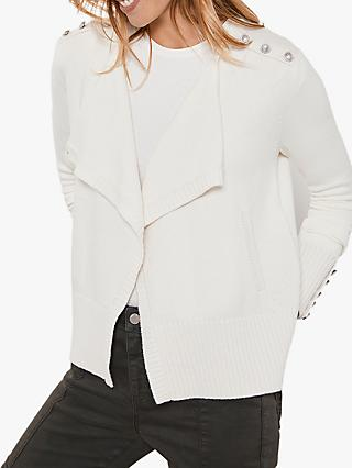 Mint Velvet Military Wrap Cardigan, Cream