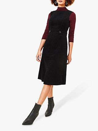 Oasis Cord Split Front Dress,Bblack
