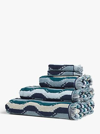 John Lewis & Partners Wavy Stripe Towels