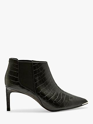 Ted Baker Berincc Leather Pointed Shoe Boots, Black