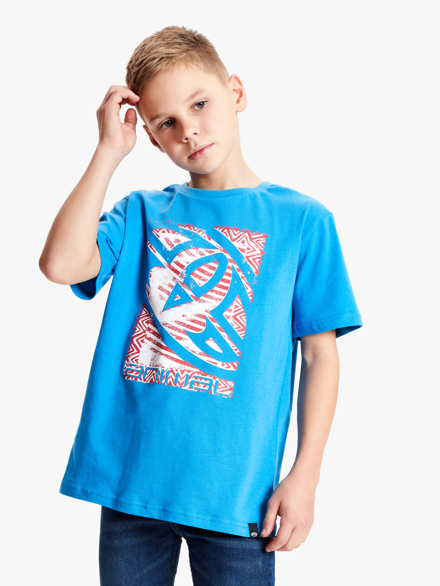 Animal Animal Boys' Tabo Print T-Shirt, Bright Blue