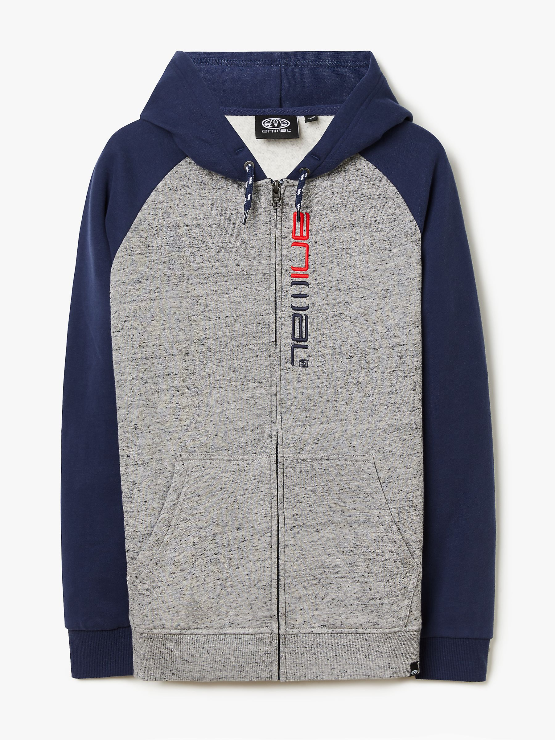 Animal Animal Boys' Zip Up Hoodie, Blue