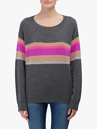 360 Sweater Gemma Cashmere Jumper, Lead/Multi