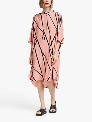 Kin Metoko Oversized Utility Dress, Pink