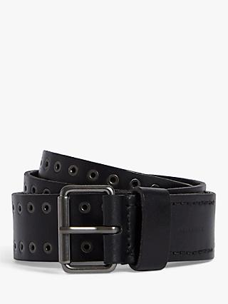 AllSaints Jace Leather Belt, Black