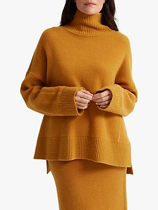 Club Monaco Oversized Turtleneck Jumper, Marigold