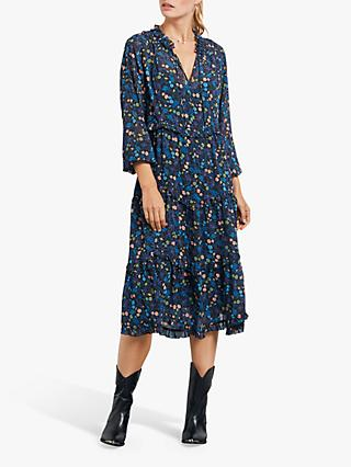hush Thora Frill Dress, Night Jungle