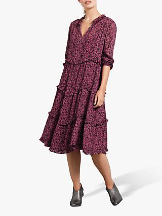 hush Thora Frill Floral Dress, Heather Floral