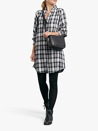 hush Carolina Check Shirt Dress, Grey