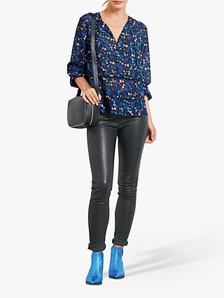 hush Thora Floral Blouse, Night Jungle