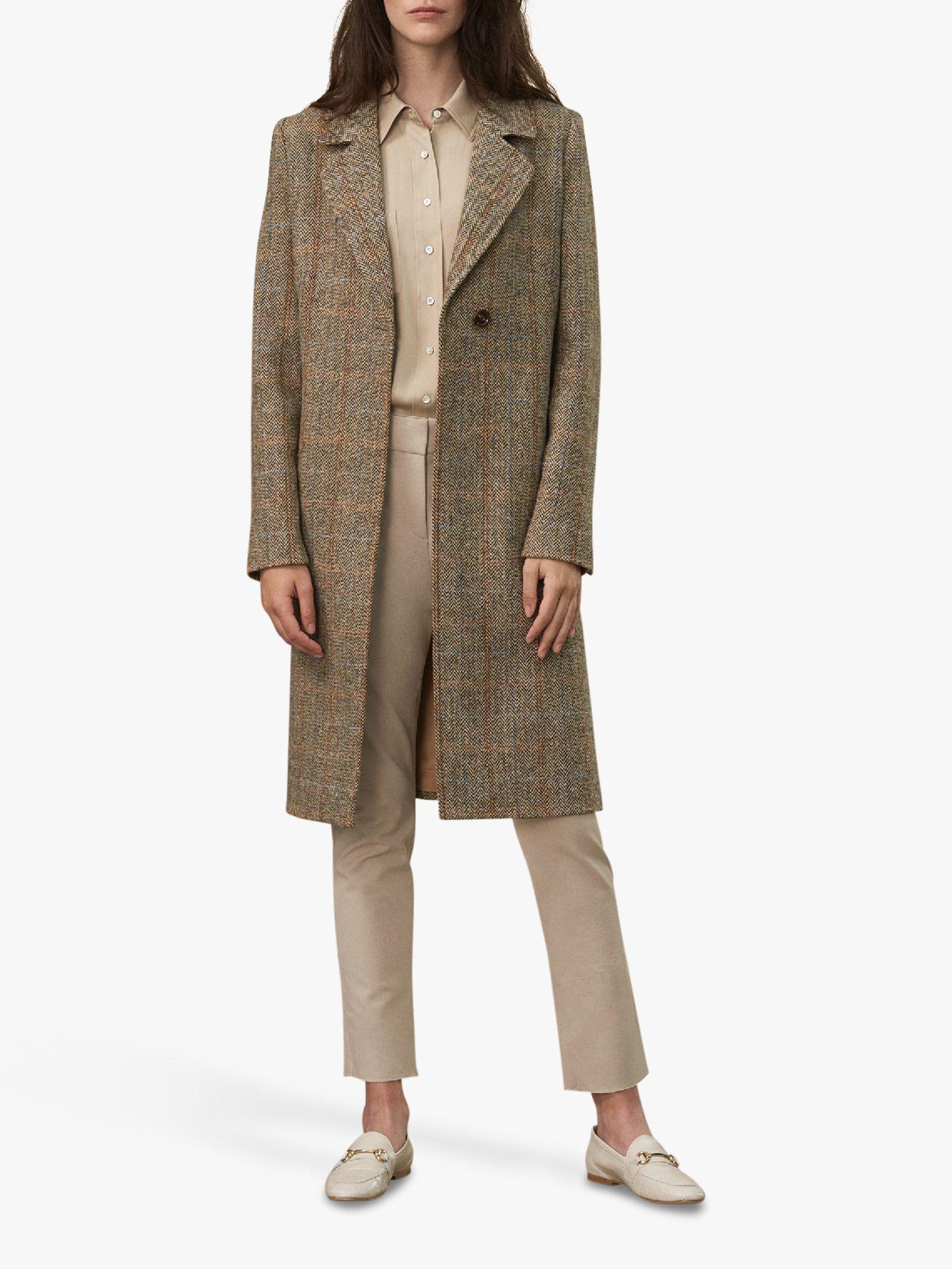 Winser London Winser London British Harris Tweed Coat, Brown