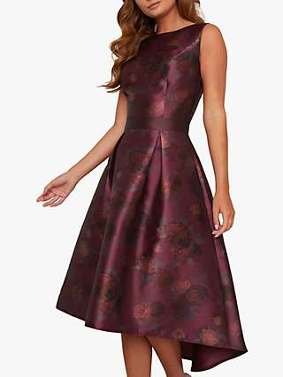 Chi Chi London Huxley Dress, Burgundy