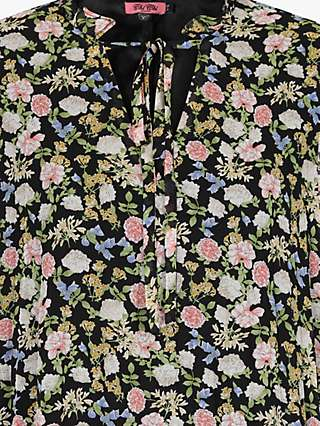 Chi Chi London Kinsey Floral Print Dress, Black