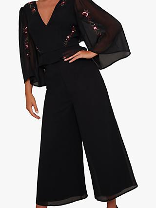 Chi Chi London Rae Jumpsuit, Black