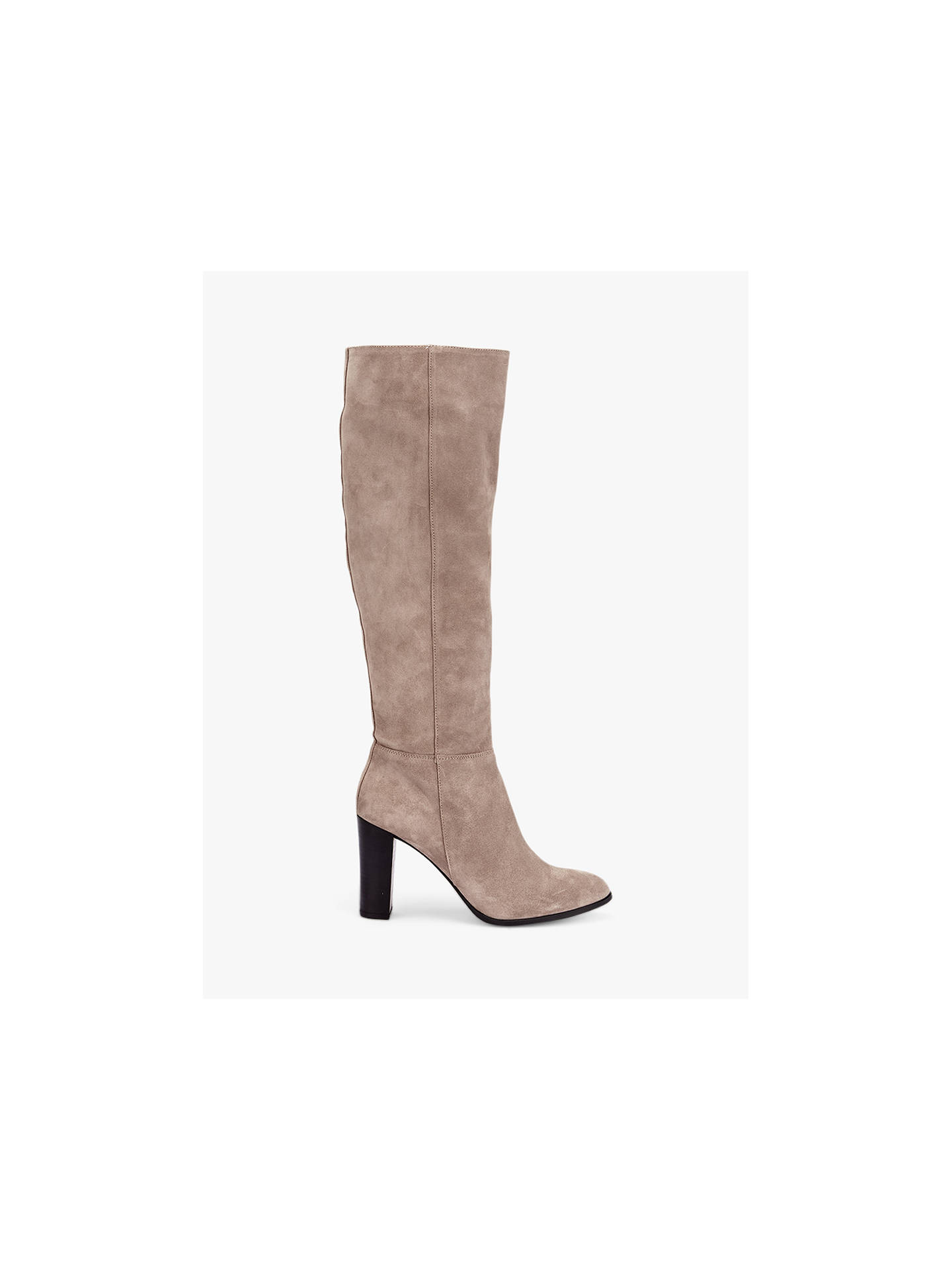 Buy Mint Velvet Faith Suede Knee High Boots, Taupe, 5 Online at johnlewis.com