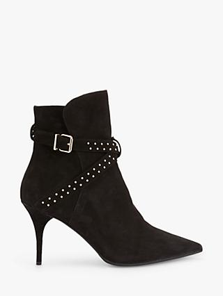 Mint Velvet Emily Suede Pointed Toe Ankle Boots, Black