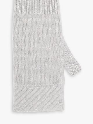 Jigsaw Cashmere Long Mittens, Grey