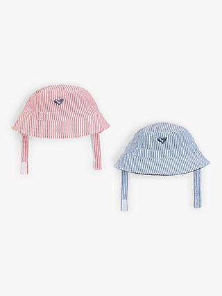 John Lewis & Partners Baby Stripe Whale Hat, Pack of 2, Multi