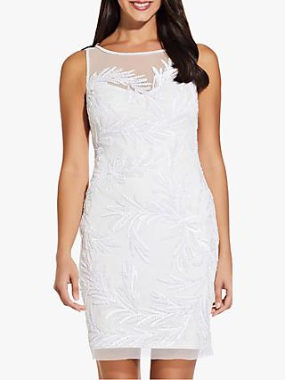 Adrianna Papell Embellished Mini Dress, Off White