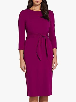 Adrianna Papell Knitted Crepe Sheath Dress, Wild Berry