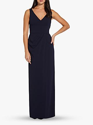 Adrianna Papell Knit Crepe Dress, Midnight