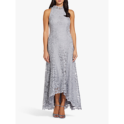 Adrianna Papell Metallic Lace Dress, Silver