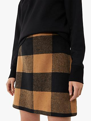 Warehouse Blanket Check Pelmet Skirt, Neutral