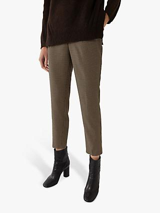 Warehouse Check Slim Leg Trousers, Brown