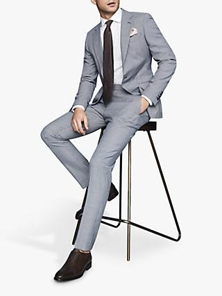 Reiss Hustle Check Slim Fit Suit Jacket, Blue