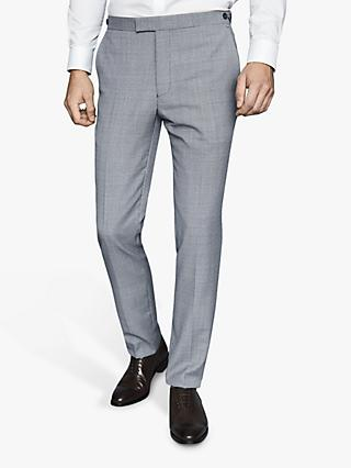 Reiss Hustle Check Slim Fit Suit Trousers, Blue