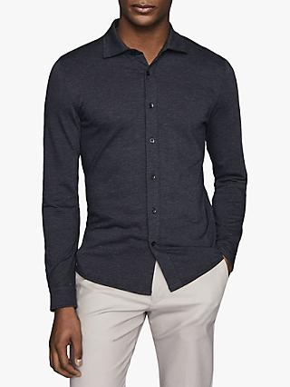 Reiss Jesmond Long Sleeve Jersey Shirt