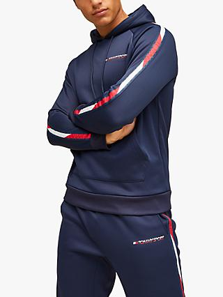 Tommy Sport Tape Fleece Hoodie, Sport Navy